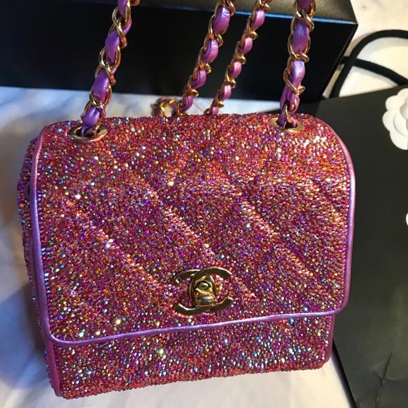 a2521879b5f4 CHANEL Bags | Authentic Iridescent Pink Swarovski Mini | Poshmark